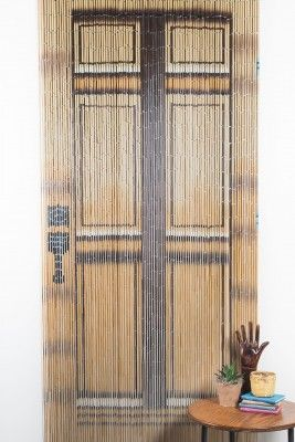 <p><span>All hand painted in Vietnam. Great for covering any standard door way. Use in the door way of your pantry, laundry room, bedroom, patio etc. Also great to hang in front of a window or simply hang on the wall as decor.</span></p> <p><span>PROMOTIONAL AND FREE SHIPPING EXCLUDED - Due to size and/or weight minimum shipping and handling applies: $8.00.  Item is not applicable to free shipping total.</span></p>