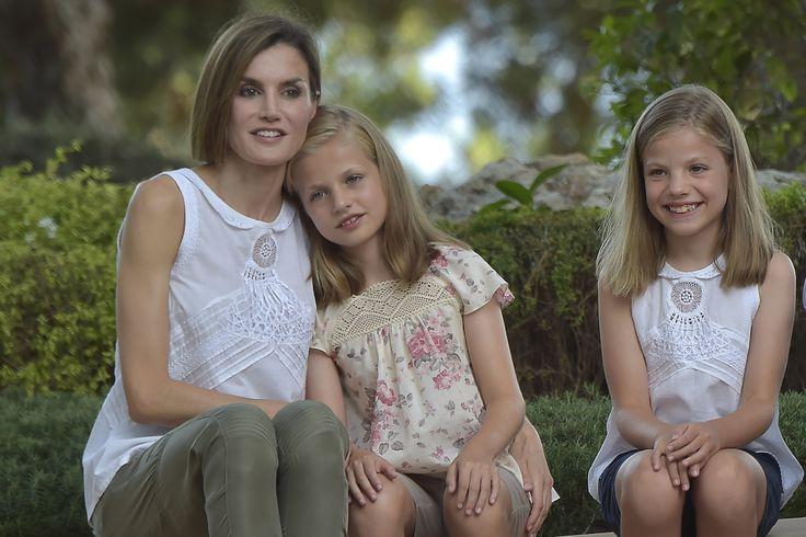 królowa Hiszpanii Letizia, infantka Leonor i infantka Sofia