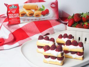 Raspberry Biscuit Stack