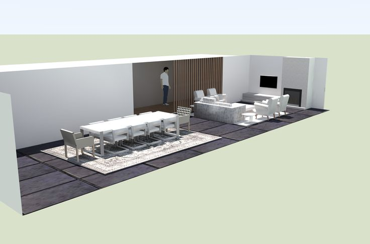 SketchUp Lounge and Dining