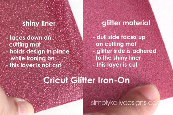 How to cut Cricut Glitter Iron-On on a Silhouette machine. I highly recommend making a small circle or square to test cut settings before cutting out your project. This step will save you from wasting time and material.