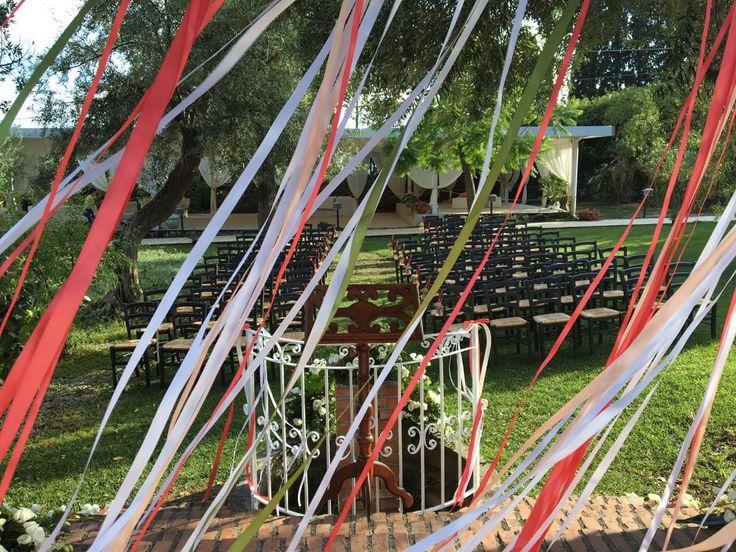 Open air wedding ceremony at Tout Va Taormina