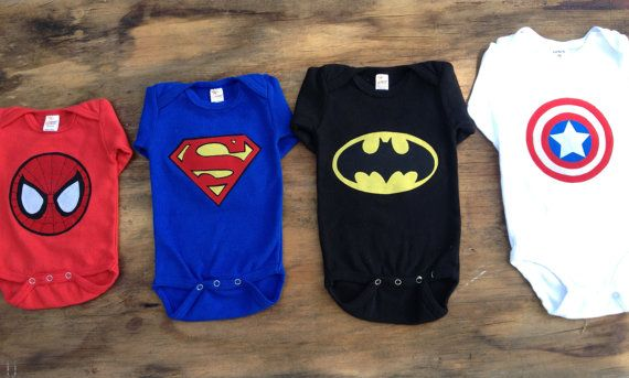 Super Hero Onesies  Short Sleve Also Available by SewLoveThis, $24.00