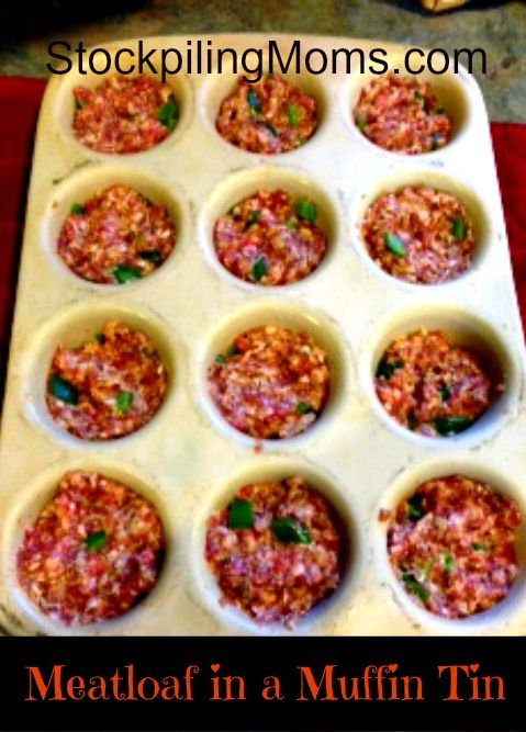 Meatloaf in a muffin tin is the perfect way to cook meatloaf—get the recipe here!