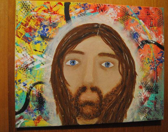 Hey, I found this really awesome Etsy listing at https://www.etsy.com/ca/listing/249003608/jesus-painting-religion-christ-portrait