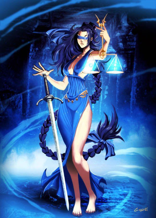 Themis deusa-Titã da lei e da ordem divina, filha de Urano e Gaia. .Ela também era uma deusa profética que presidiu a maioria dos antigos oráculos, incluindo Delphoi. Neste papel, ela era a voz divina (themistes) quem primeiro ensinou à humanidade nas leis primordiais da justiça e da moralidade, como os preceitos de piedade, as regras da hospitalidade, a boa governação, a conduta de reunião, e as ofertas de devotos aos deuses.
