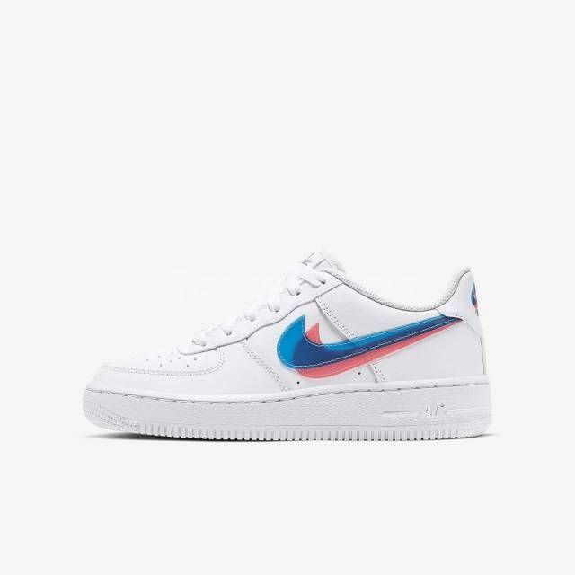 Nike Air Force 1 GS White 3D Glasses Double Swoosh Womens