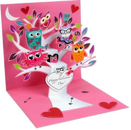 POP1042 - Pop-up - Valentine Owls   Valentijn   kaartfanaat