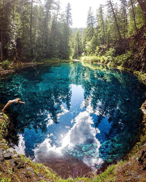 Hop in!  Tamolitch Pool Oregon  Ever Changing Horizon Say Yes To Adventure