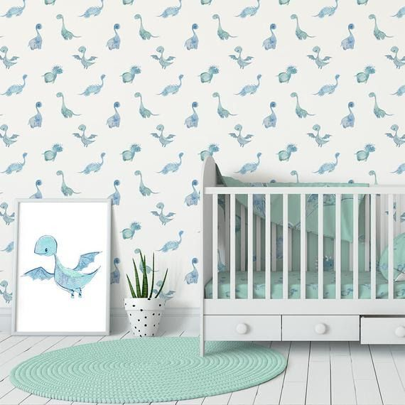 Subscribe Subscribed Unsubscribe 483k Order Now For Delivery In 1 Week Baby Boy Nursery Wallpaper Dinosaur Wallpaper Wall Decor Etsy Get The Perfect Style O