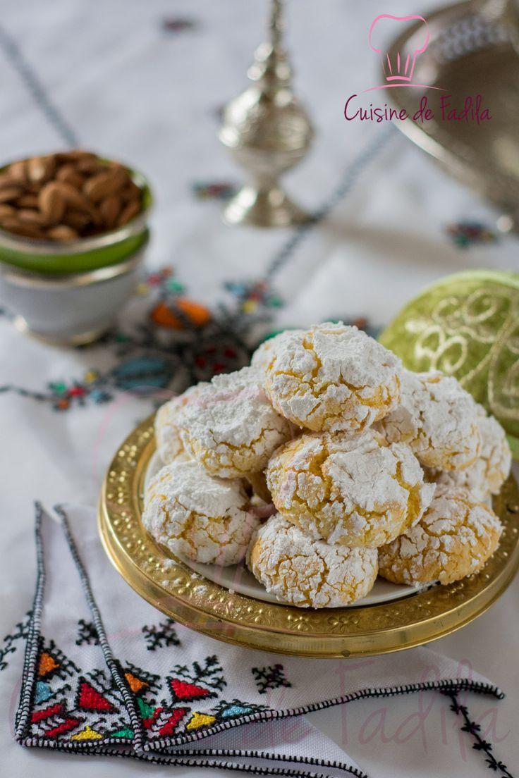 Ghriba noix de coco et semoule #ghriba Bonjour la recette de la Ghriba noix de coco et semoule , une gourmandise Marocaine délicieuse et facile à faire est sur le blog en cliquant sur le lien http://cuisinedefadila.com/ghriba-noix-de-coco-semoule/