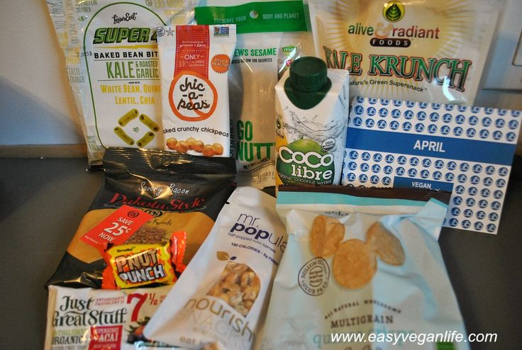 This is the content of the April 2015 small vegan UrthBox