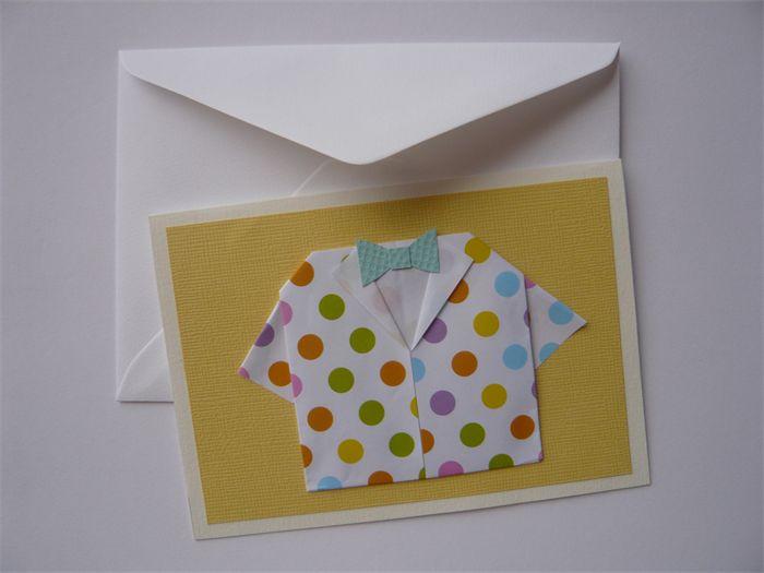 """ ORIGAMI Jacket "" Greeting Card - Polka dot | riri & lolo | madeit.com.au"
