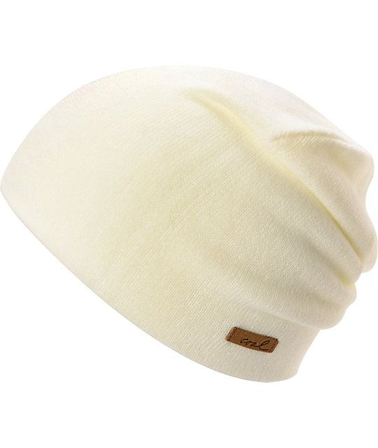 "The Coal Julietta cream white beanie for girls will keep your head nice and warm when the temperature drops. This tight knit beanie has a snug fit and a cool ""coal"" light brown logo. The Coal girls Julietta white beanie will keep you head comfortable and"