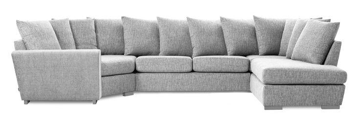 Friday är en rymlig soffa med lite högre ryggstöd som ger en god komfort.  Du kan välja mellan flera olika färger. Komplettera gärna med en eller flera nackkuddar.