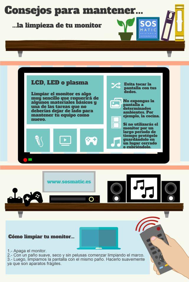 Consejos para mantener limpio el monitor del ordenador #consejos