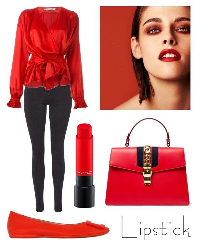 """Senza titolo #433"" by kirsten-weigh on Polyvore featuring bellezza, Roger Vivier, Maison Scotch, Christian Dior, Gucci, Chanel e MAC Cosmetics"