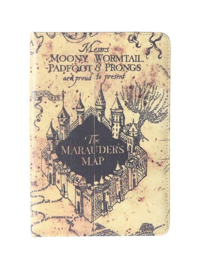 Cute Map Wallpaper Tablet Case With Harry Potter Themed Design Works With