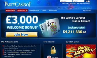 Party Casino, with its certificates of eCOGRA, GAMCARE, iTechs Labs and gra, is a trustworthy betting destination which is registered in Gibraltar and as well as in London Stock Exchange. Party Casino declares to be the biggest online casino in the wor ...