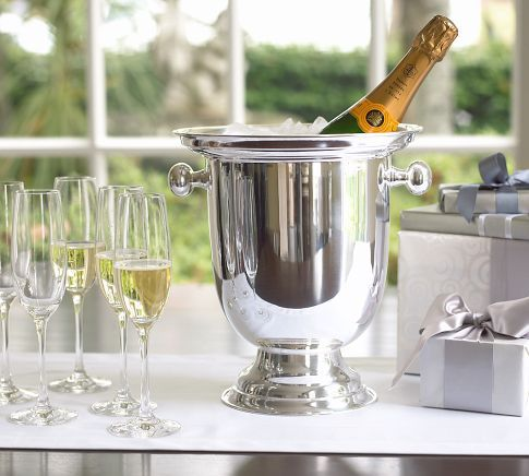 Hotel Silver-Plated Champagne Bucket: Buckets Potterybarn, Idea, Silver Pl Champagne, Champagne Buckets, Hotels Silver Pl, Bar Carts, New Years Eve, Silverpl, Pottery Barns
