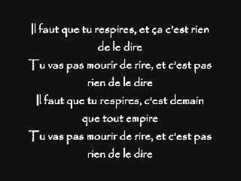 Mickey 3D, respire (lyric/paroles)