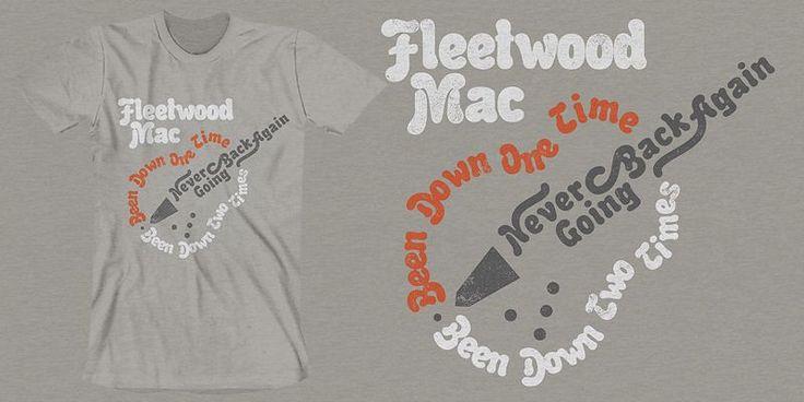 """Fleetwood Mac Lyric Guitar"" t-shirt design by Pavlov Visuals"
