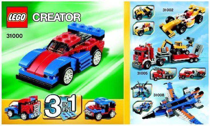 Lego Mini Speeder Instructions 31000 Creator Lego Lego Creator Lego Creator Sets