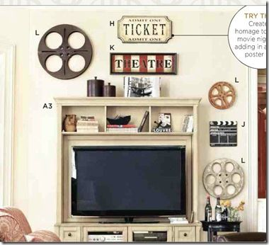 Think Darker Colors Will Work Better For Our Movie Room Sew Dang Cute Crafts Theater Room Decor For Blue Gold Lights Camera Action Theme