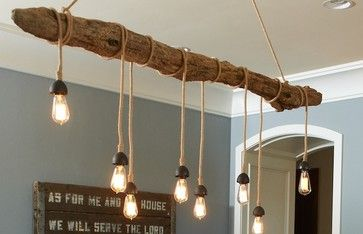 Driftwood Hanging Light With Edison Bulbs For The Home