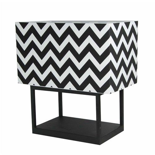 Salt & Pepper Mood Lamp Zig Zag Black and White Shade | Lanterns, Candles & Lamps - House