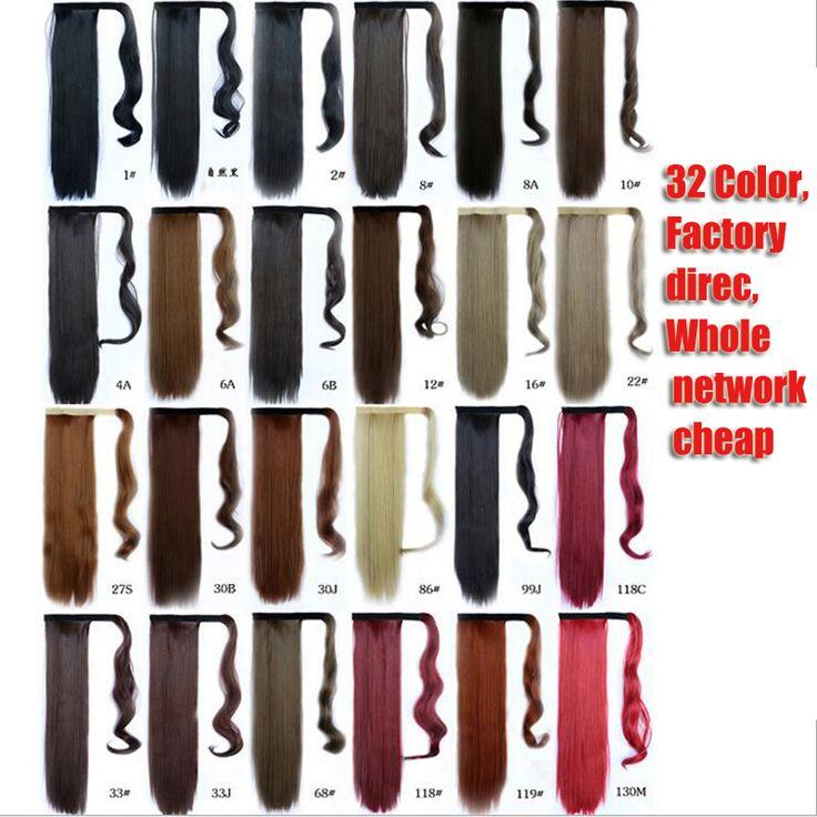 Gratis Verzending 1 ST 60 cm Clip In Paardenstaart Staart Haar Extension Wrap op Haar Stuk Rechte Stijl 100% Hoge kwaliteit paardenstaarten