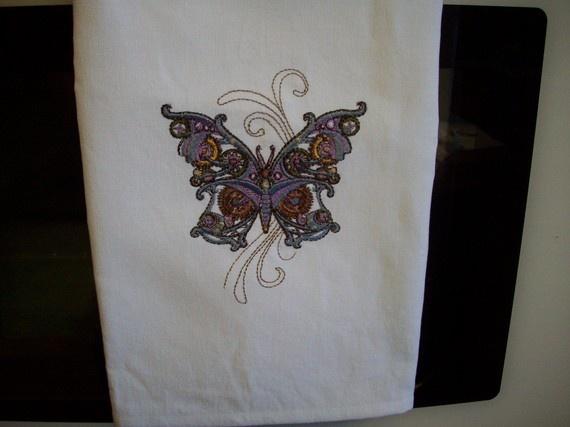 Steampunk Butterfly Kitchen Towels