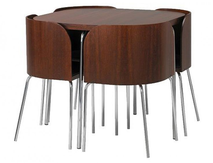Unique Folding Dining Table for Parties : Fantastic Round Folding Dining Table Modern Folding Chairs