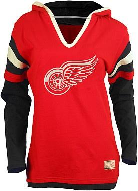 Red Wings Old Time Hockey women's fooler hoodie