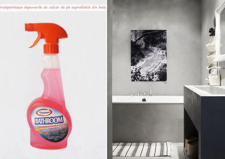 Misavan Bathroom este o solutie ce previne depunerile de calcar, curata,  confera luciu si parfum: http://www.produse-horeca.ro/baie/misavan-bathroom-550ml. Produsul este disponibil la 550ml si la 5L #curatenie #baie #bathroom #misavan