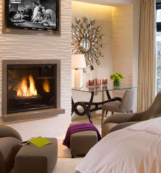 M s de 25 ideas incre bles sobre pared con chimenea y - Chimeneas de decoracion ...