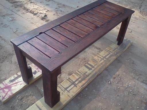 Simple Outdoor Bench From Pallets Do It Yourself Home