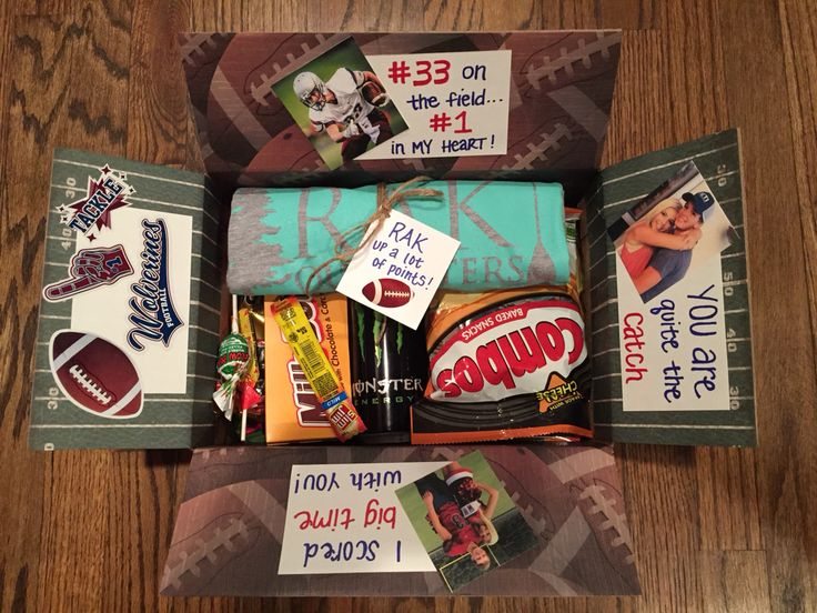Football player goodie bag / football care package / secret cheerleader / football theme