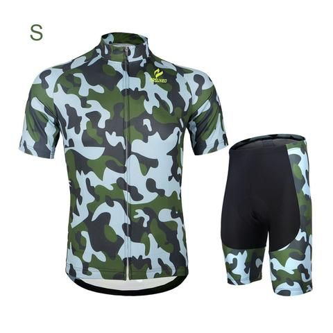 Camouflage Men's Bicycle Short Sleeve Jersey