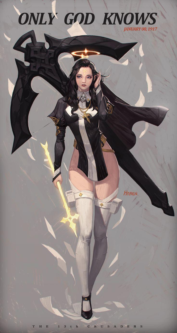 ArtStation - Study - Nun + Archer - Holy Arrow, Kim Han seul (aka Haren)