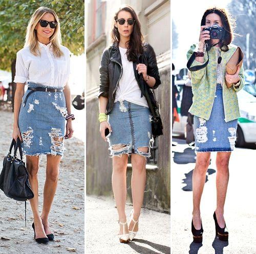 Best 20  Denim skirt outfits ideas on Pinterest | Denim skirt ...