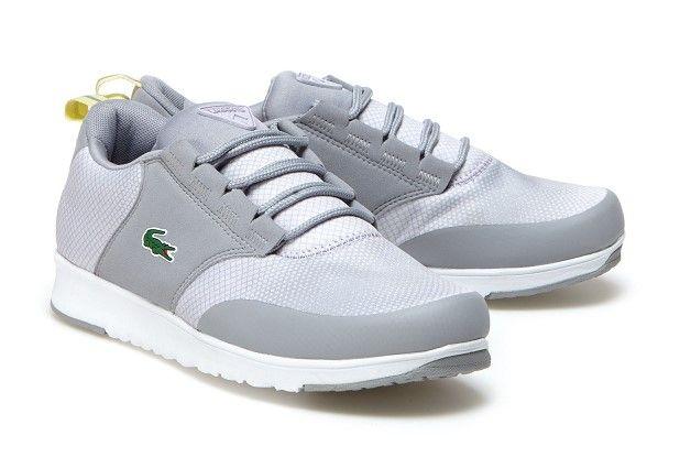 Sneakers L.ight R Lacoste bimatière imprimée deux tons pas cher prix de la Baskets femme Lascote 105,00 €