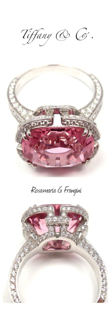 Rosamaria G Frangini | High Pink Jewellery | TIFFANY & CO. Diamond Platinum Pink Spinel 'Blue Book' Ring