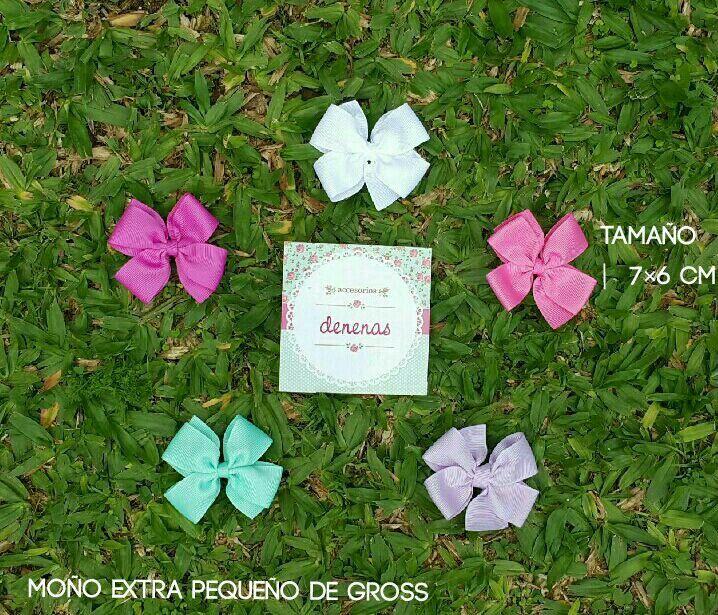 Moños extra pequeño con pincita blanco,rosa chicle,lila claro,tiffany,rosa oscuro Bows for Girls @denenasaccesorios       Etsy