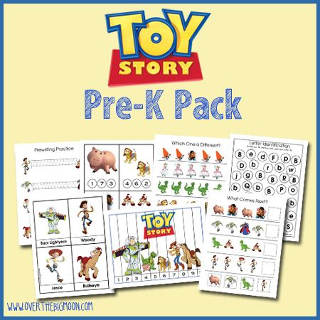 Toy Story Pre-K Pack!  27 pages of Toy Story learning and fun for your kiddos!