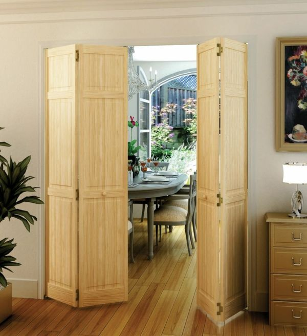 Creez Un Decor Unique Avec La Porte Accordeon Archzine Fr Bifold Doors Stylish Doors Interior