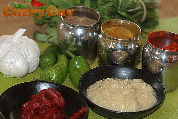 Making chicken chilli garlic curry