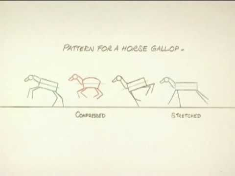 How To Animate a Horse Run By Richard Williams - YouTube