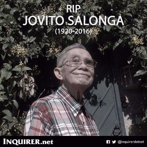 Senator Jovito R. Salonga: Pillar of Philippine democracy.