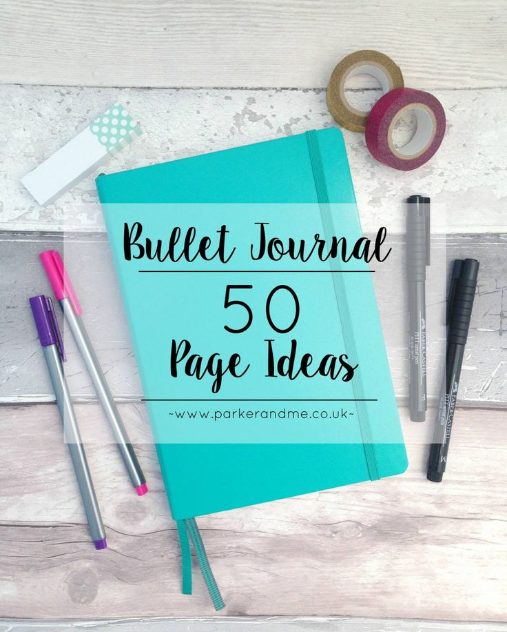 50 Bullet Journal Page Ideas